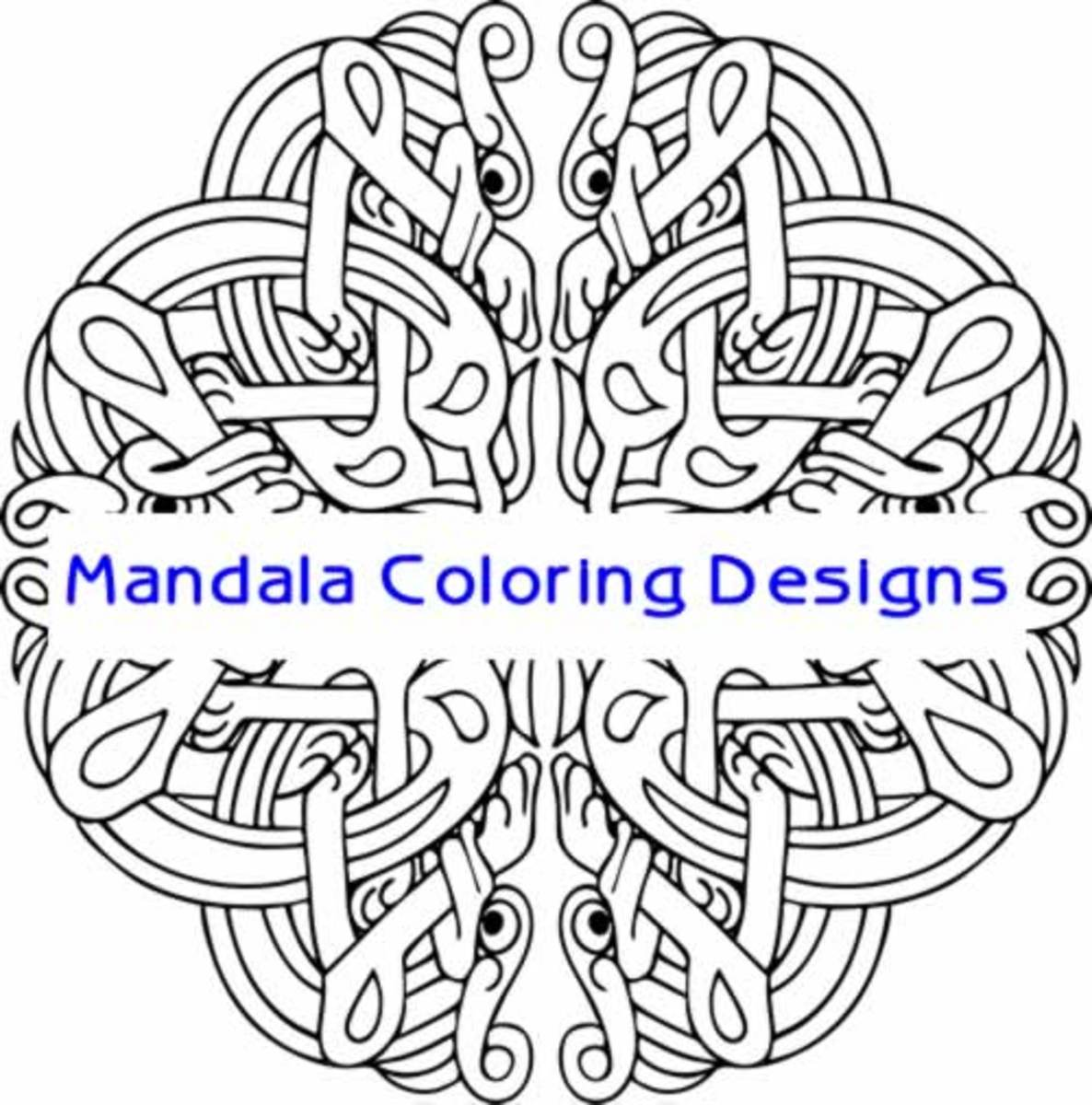 Celtic Design Art Coloring Poster