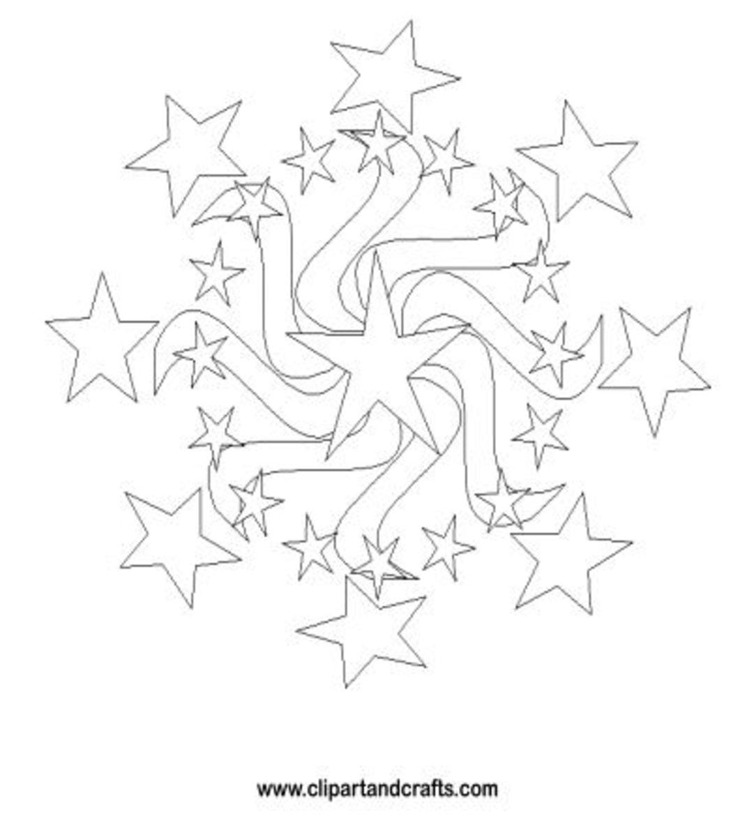 Stars Mandala Design