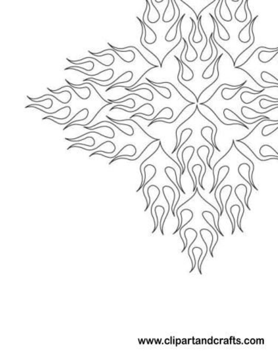 Tribal flames tattoo design or adult coloring page