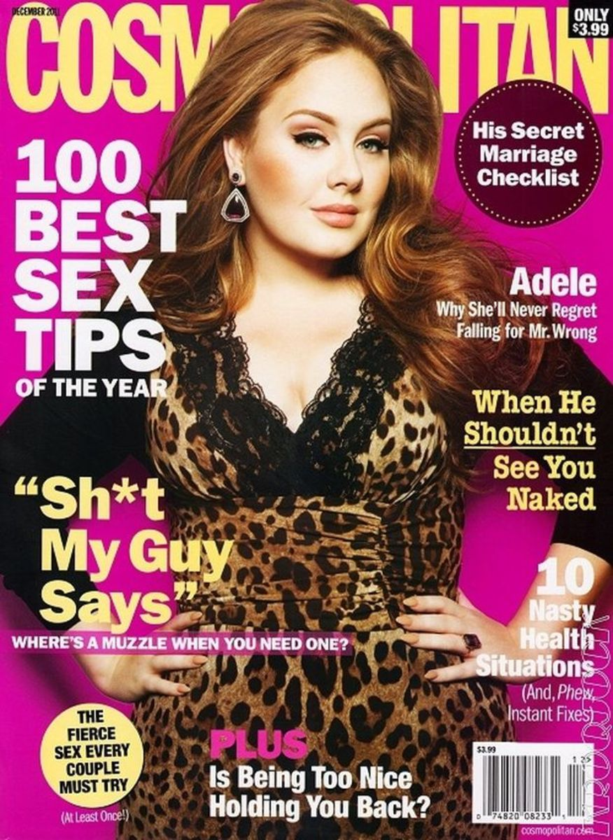 Adele on the cover of Cosmopolitan Magazine