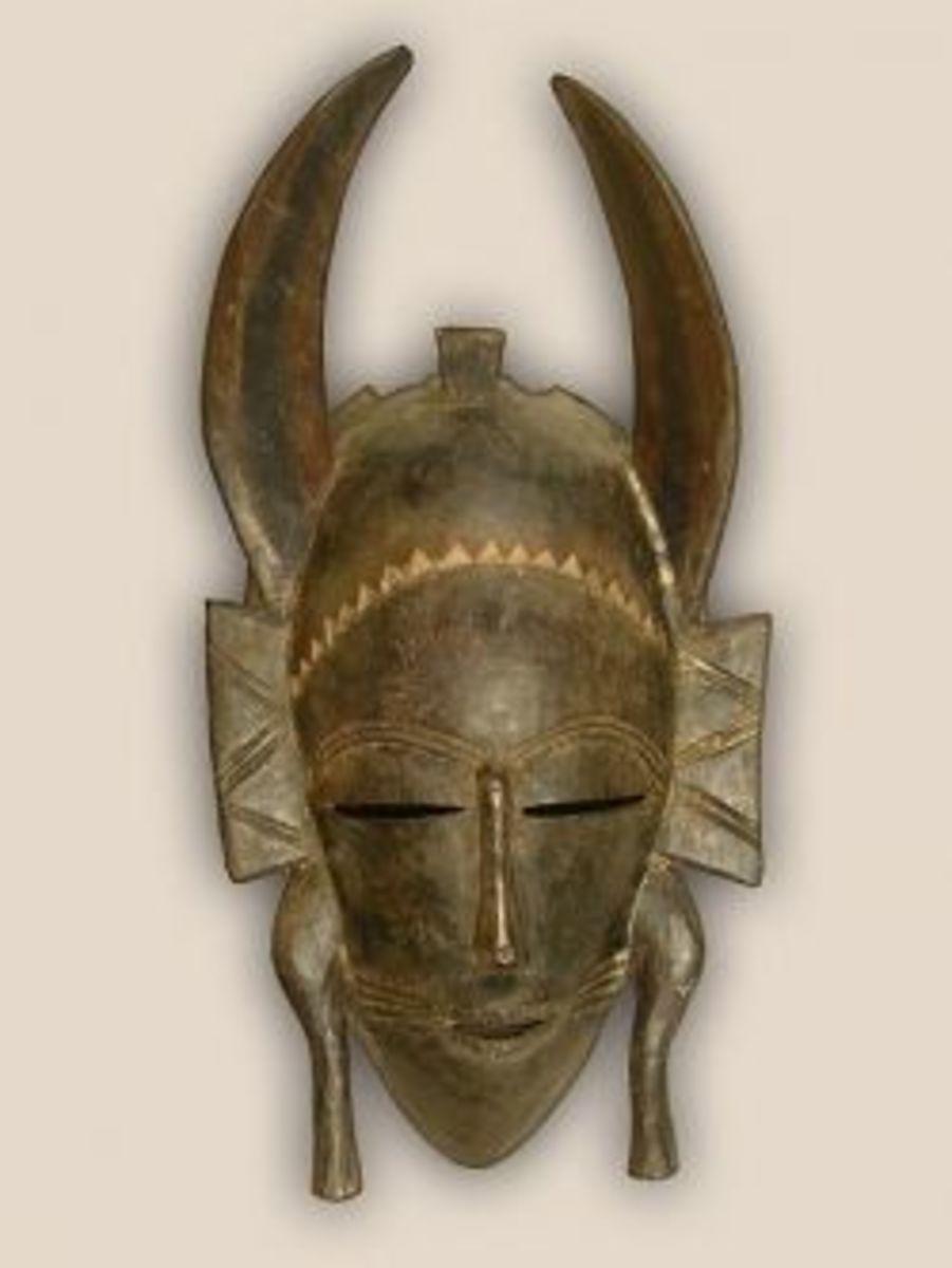 Senufo Kpelie African Tribal Art Mask