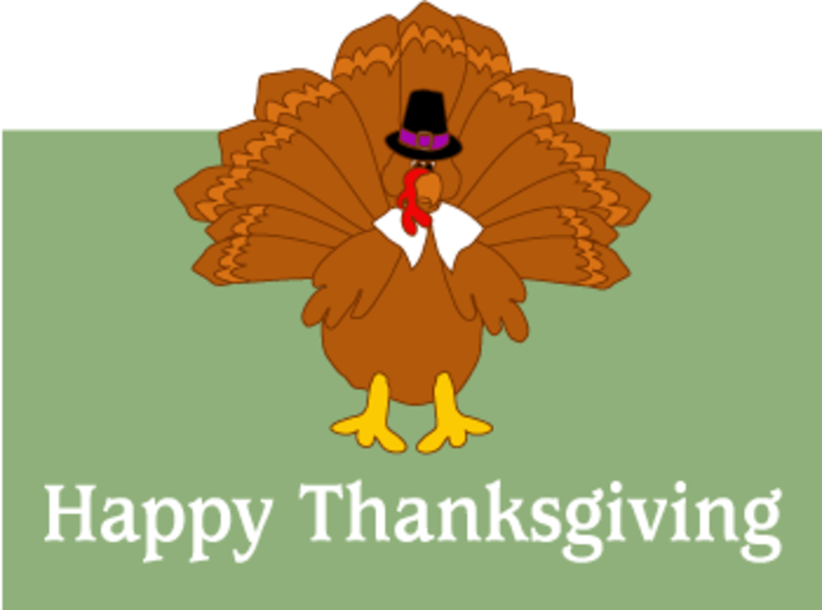 Funny Thanksgiving Clip Art Turkey with Word Art