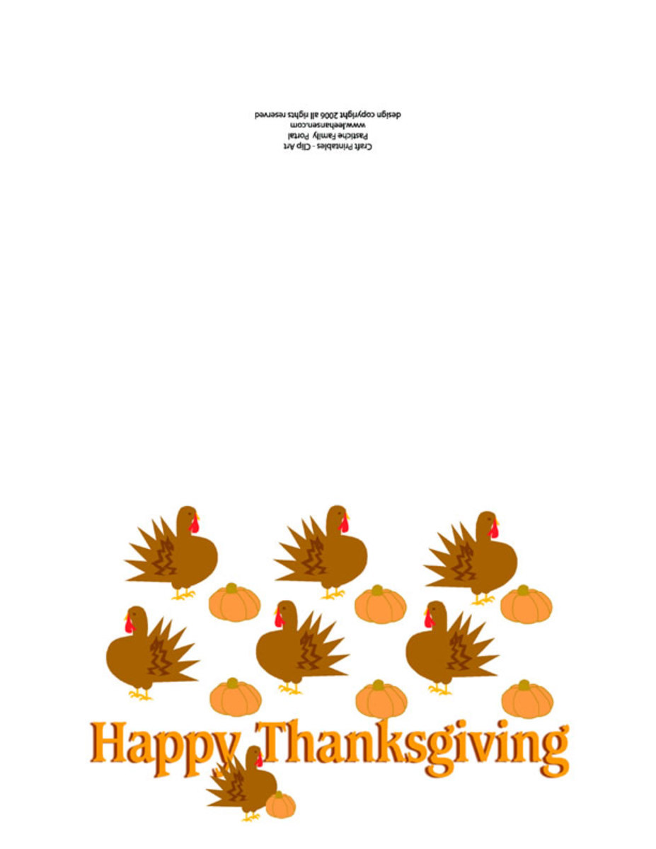 Print and Fold Thanksgiving Card
