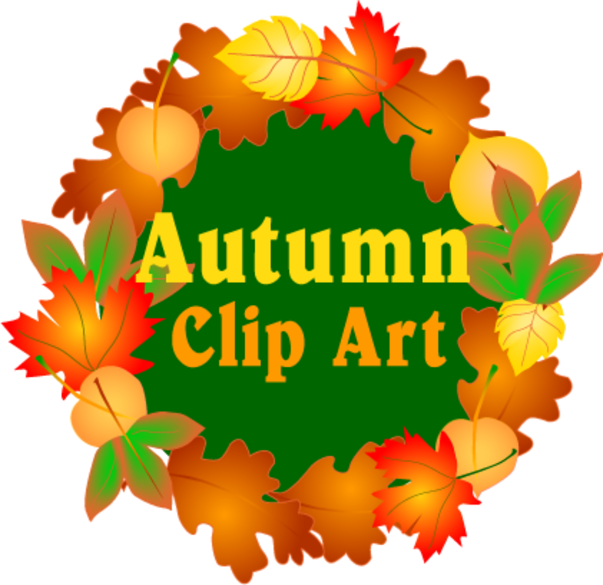 Autumn Clip Art - Fall Season Graphics