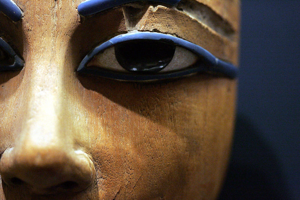 Eye on Egyptian coffin