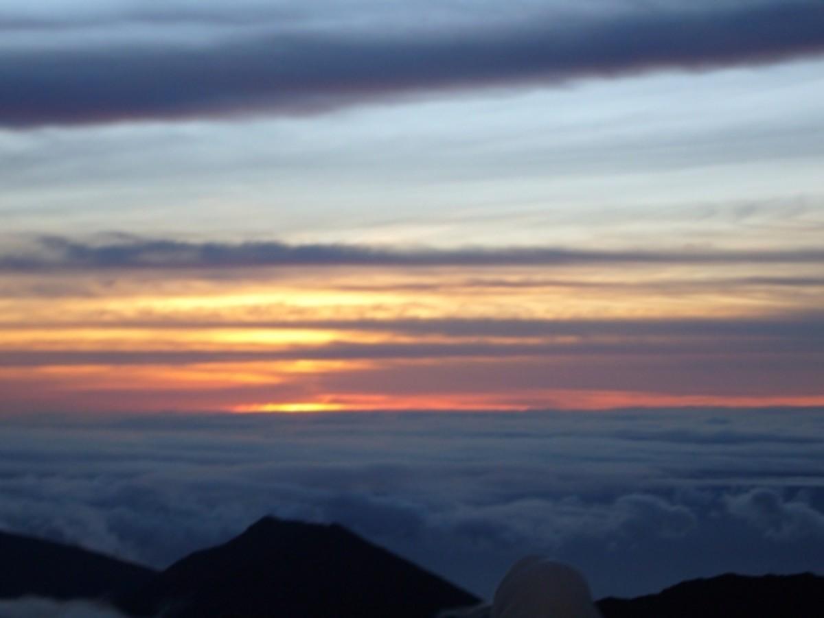 Mt Haleakala Volcano Sunrise