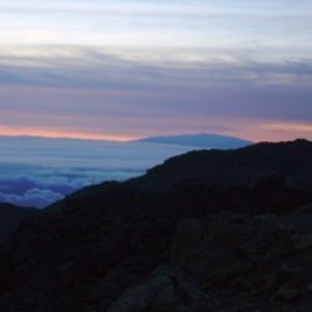 View from the Haleakala Volcano - Maui, Hawaii
