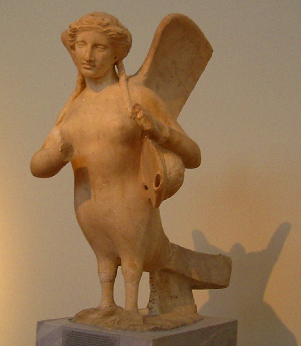 Siren Funerary Sculpture from the Kerameikos, Athens - NM 6236