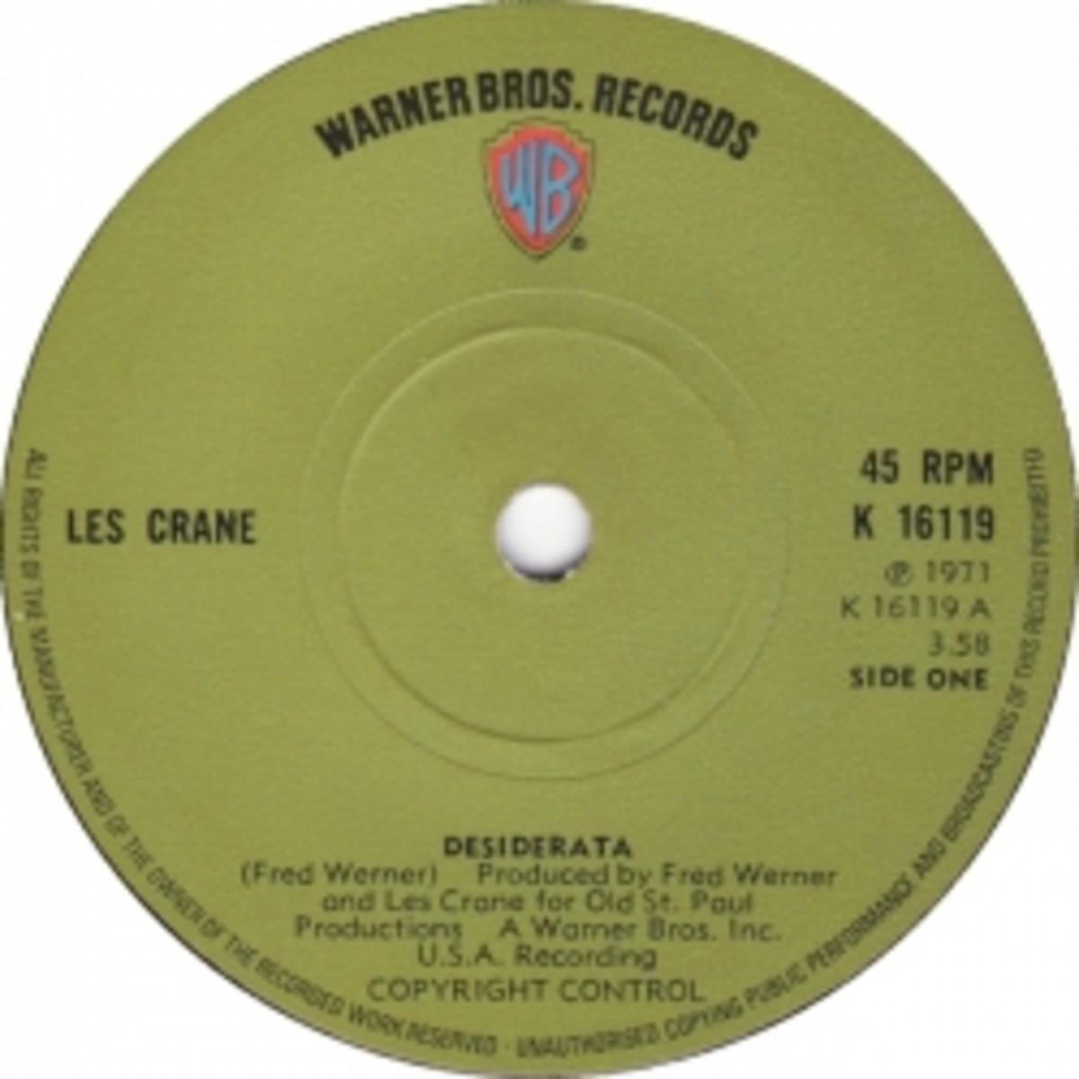 desiderata les crane warner brothers