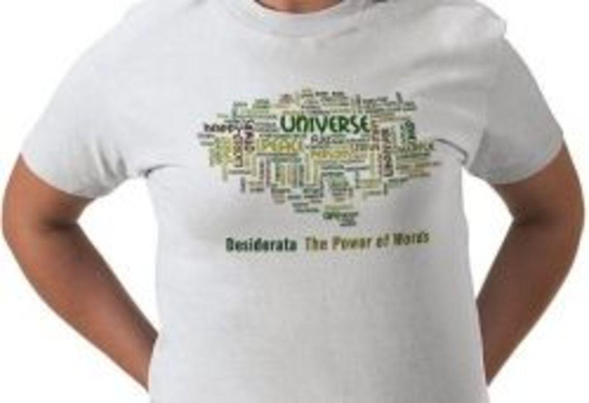 desiderata t-shirt zazzle