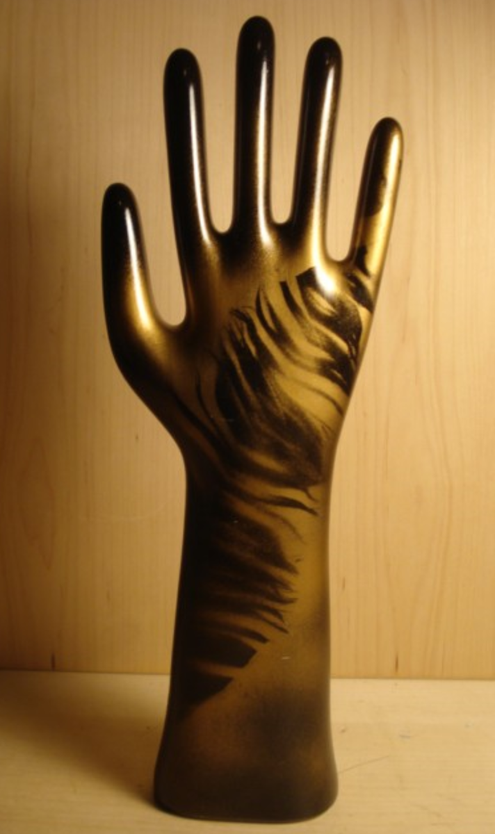 Beautiful Reworked Glove Mold by RaleighModern on Etsy