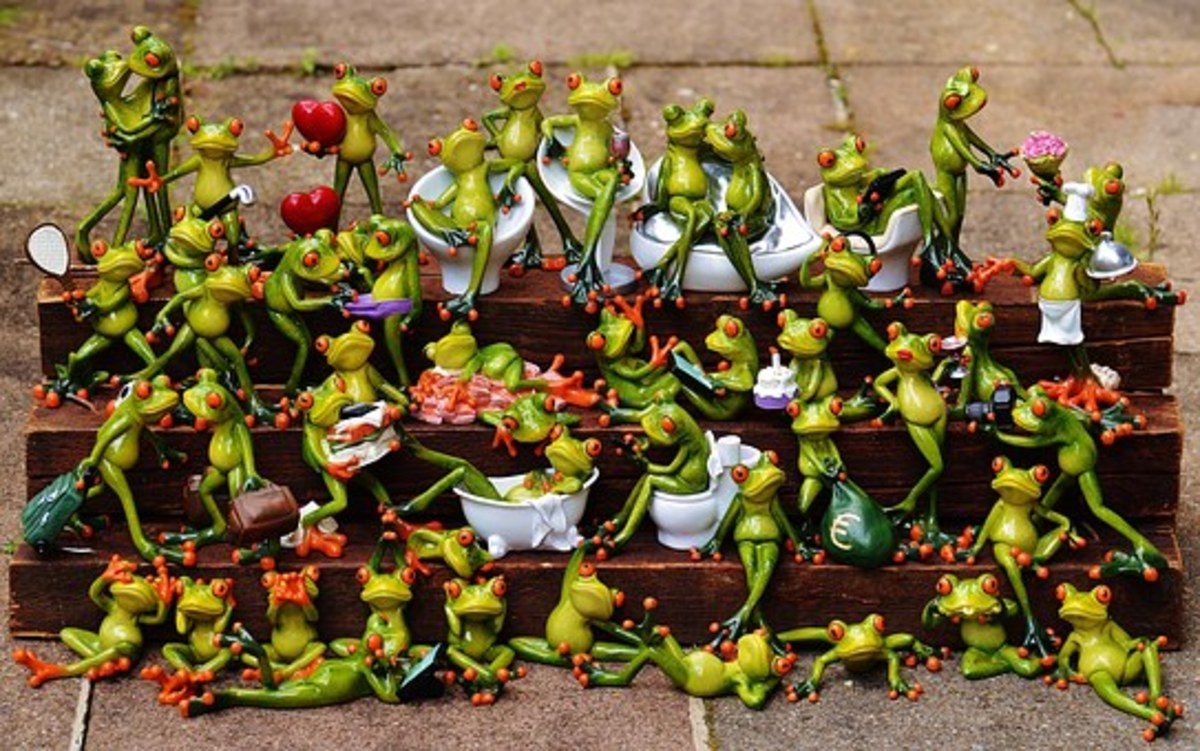 Like a herd of frogs - idiom