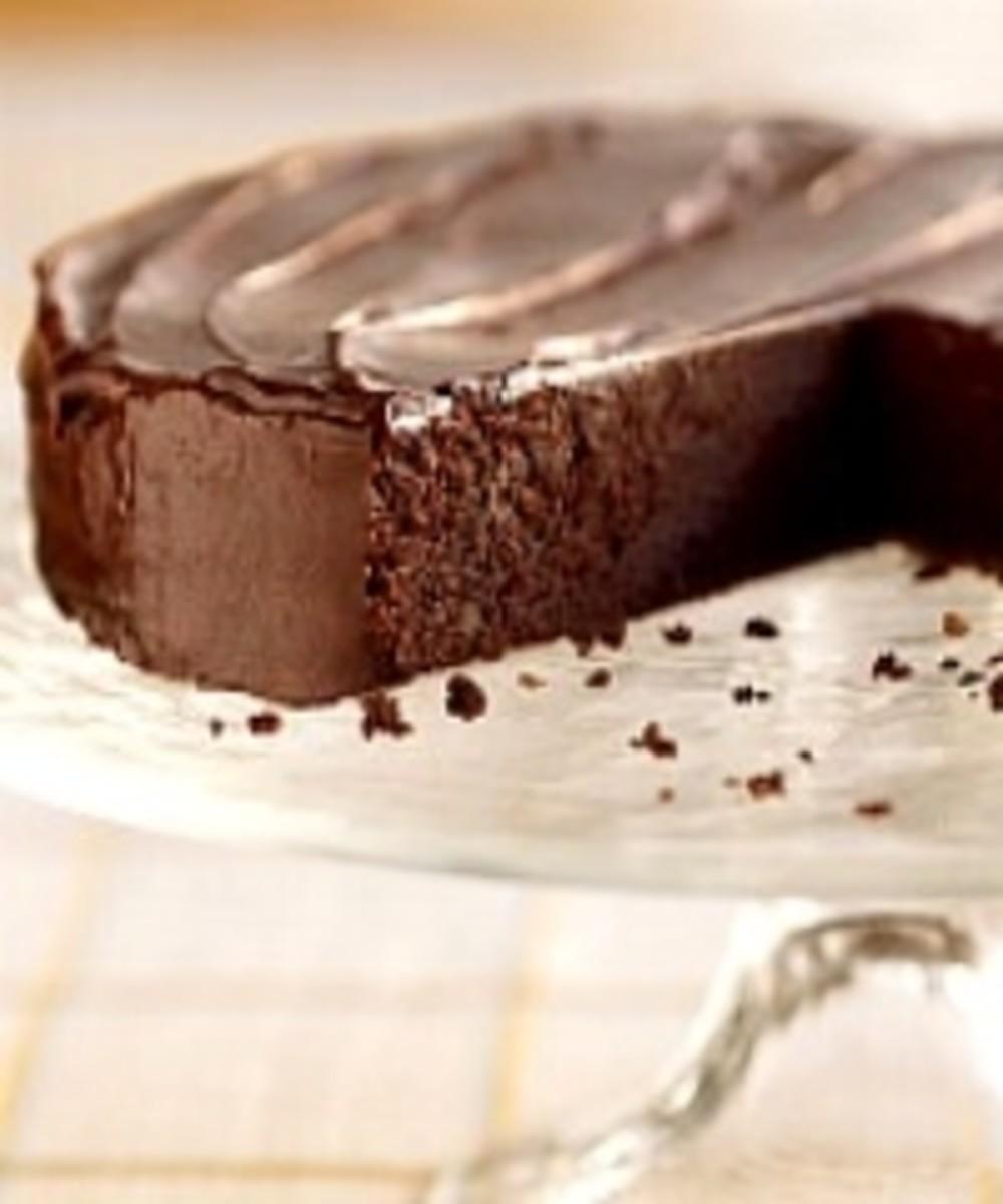 Dark Chocolate Irish Whiskey Cake