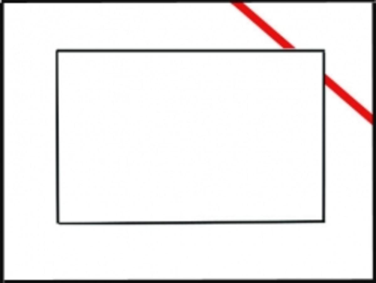 Diagonal Inlay Mat Example