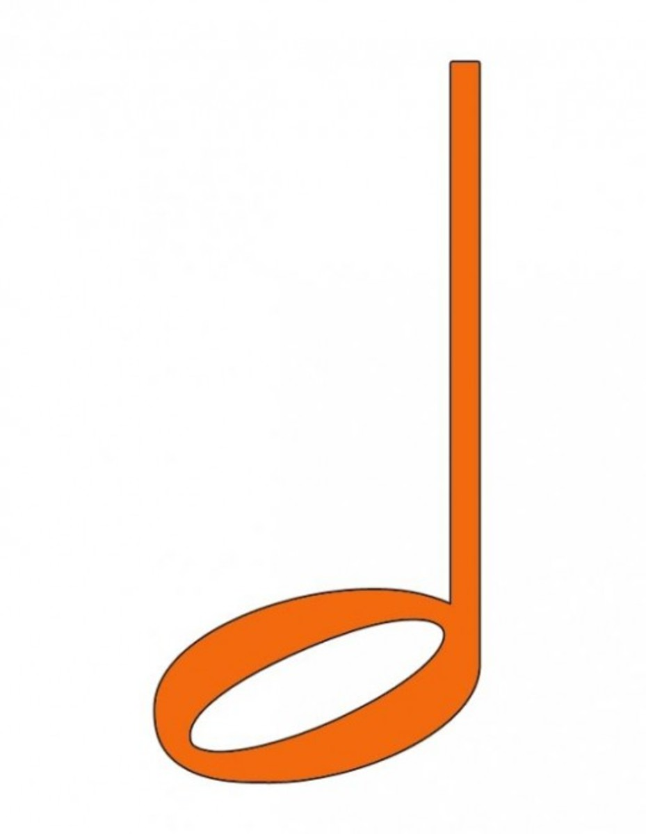 Orange Half Note