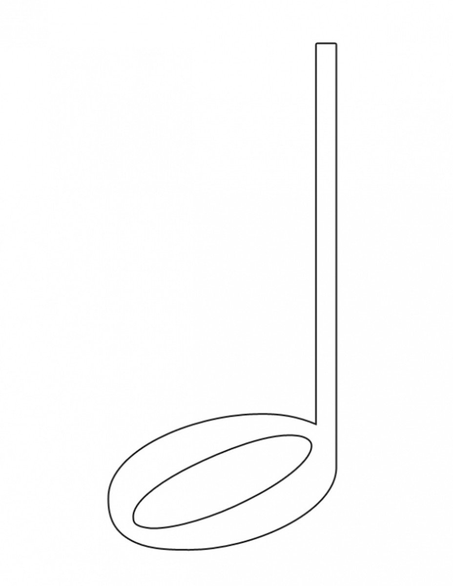 Free Coloring Pages Of Half Note Quarter Note Coloring Page