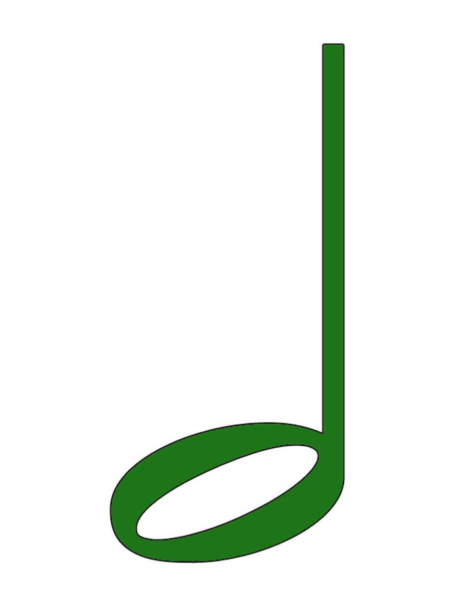 Green Half Note