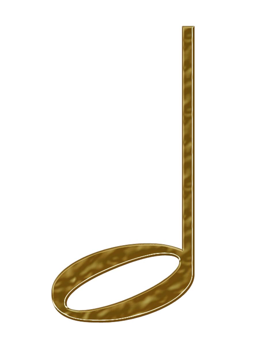 Gold Half Note