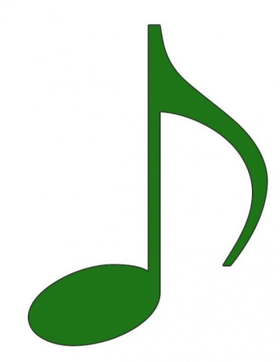 Green Eighth Note Clip Art