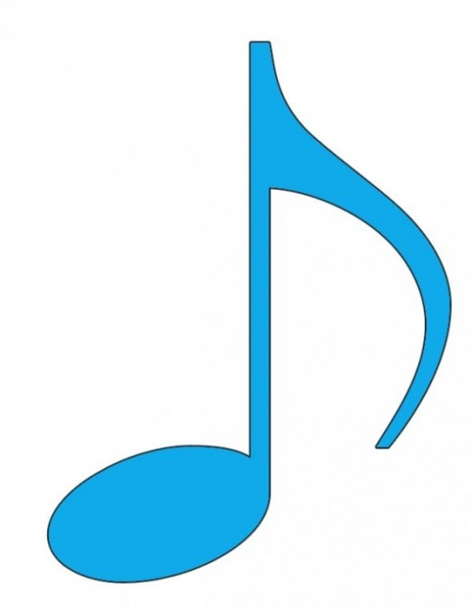 Blue Eighth Note Clip Art