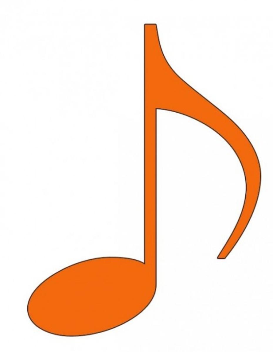Orange Eighth Note Clip Art
