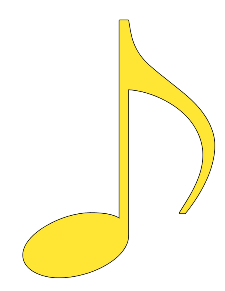 Yellow Eighth Note Clip Art