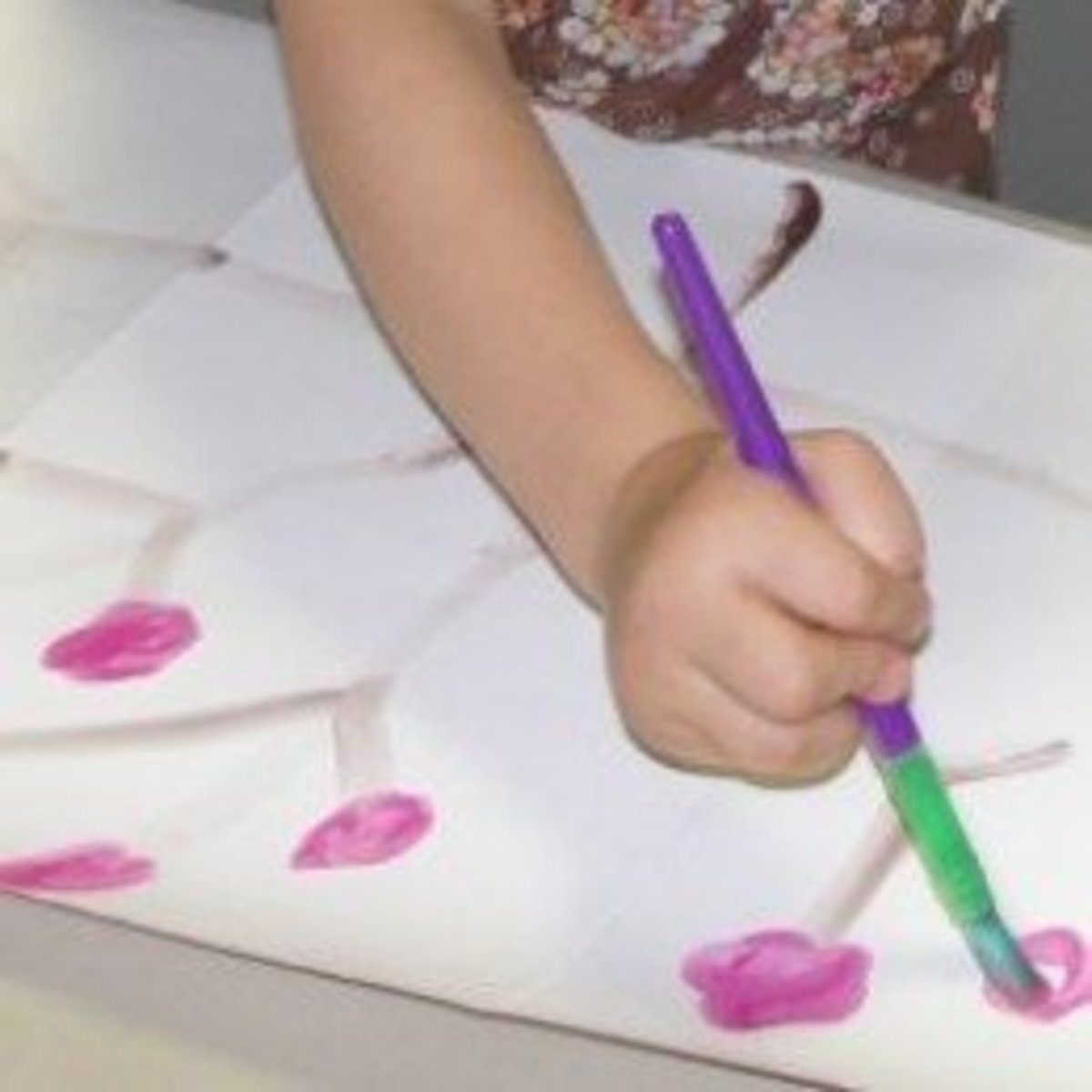 Creating a Japanese Screen with a Sumi-e Style Painting of Cherry Blossoms during the lesson on Japan