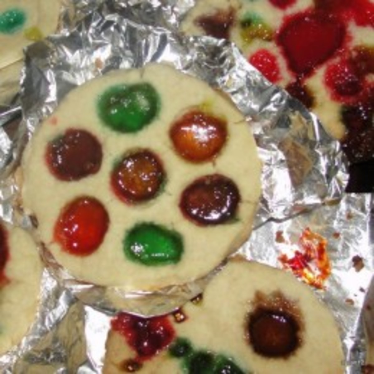 Stained glass window cookies made in the lesson on Medieval Art
