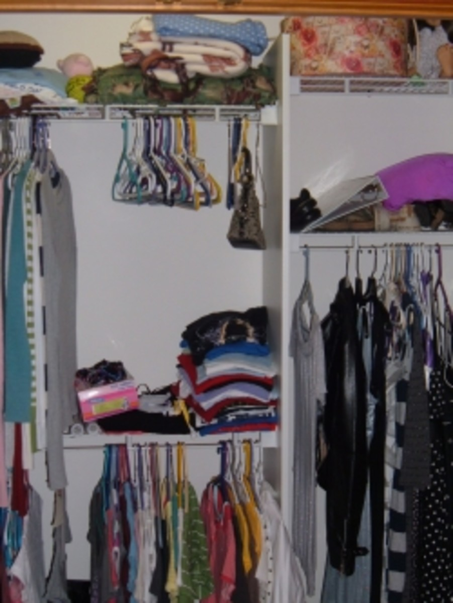 Even our teenage daughter can keep her closet neat and organized