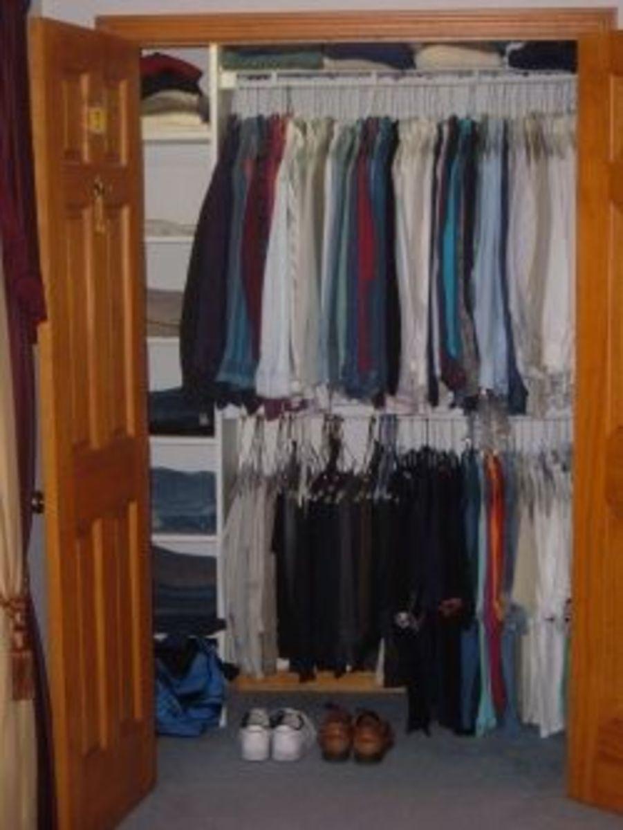 My new closet looks pretty good!