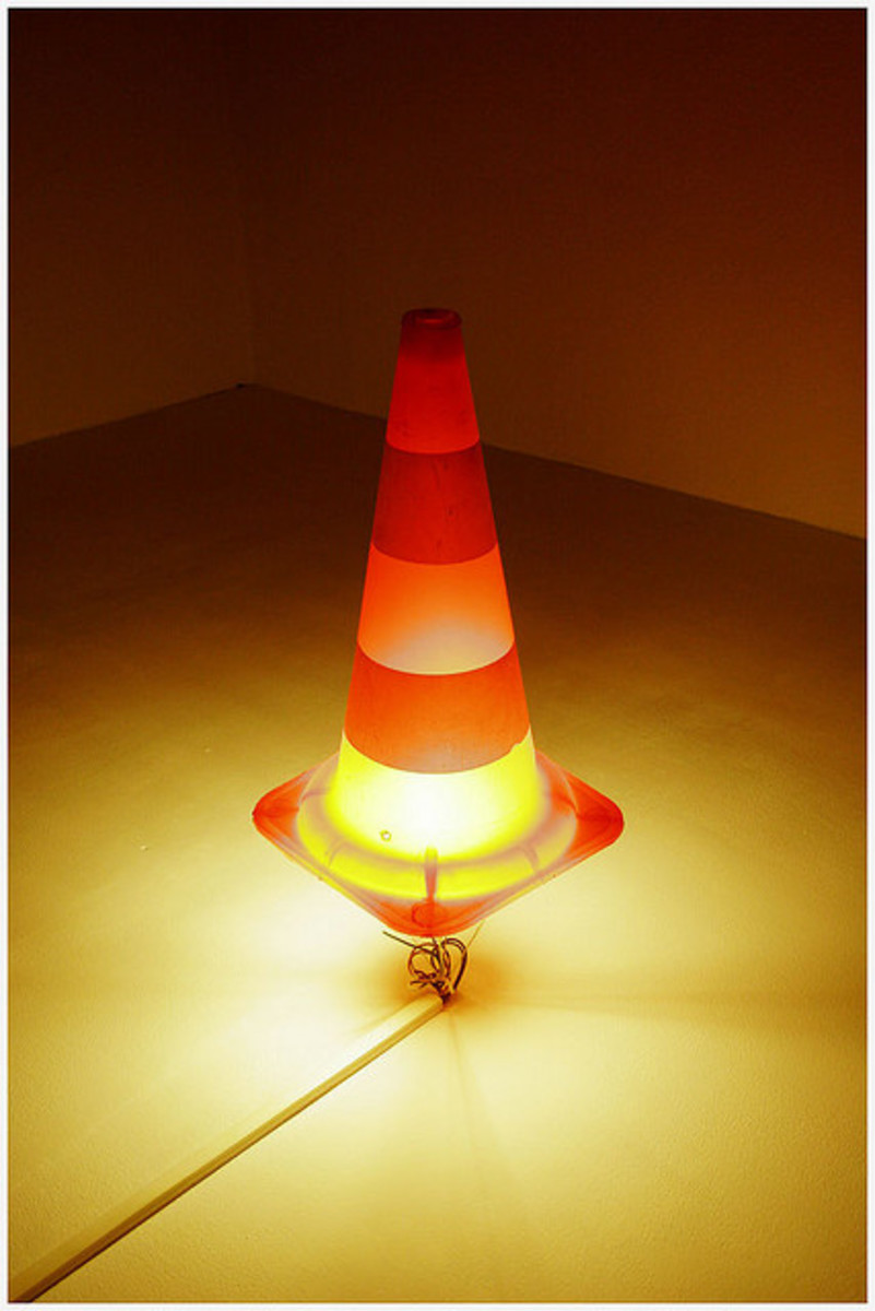A great use for old and worn road cones.