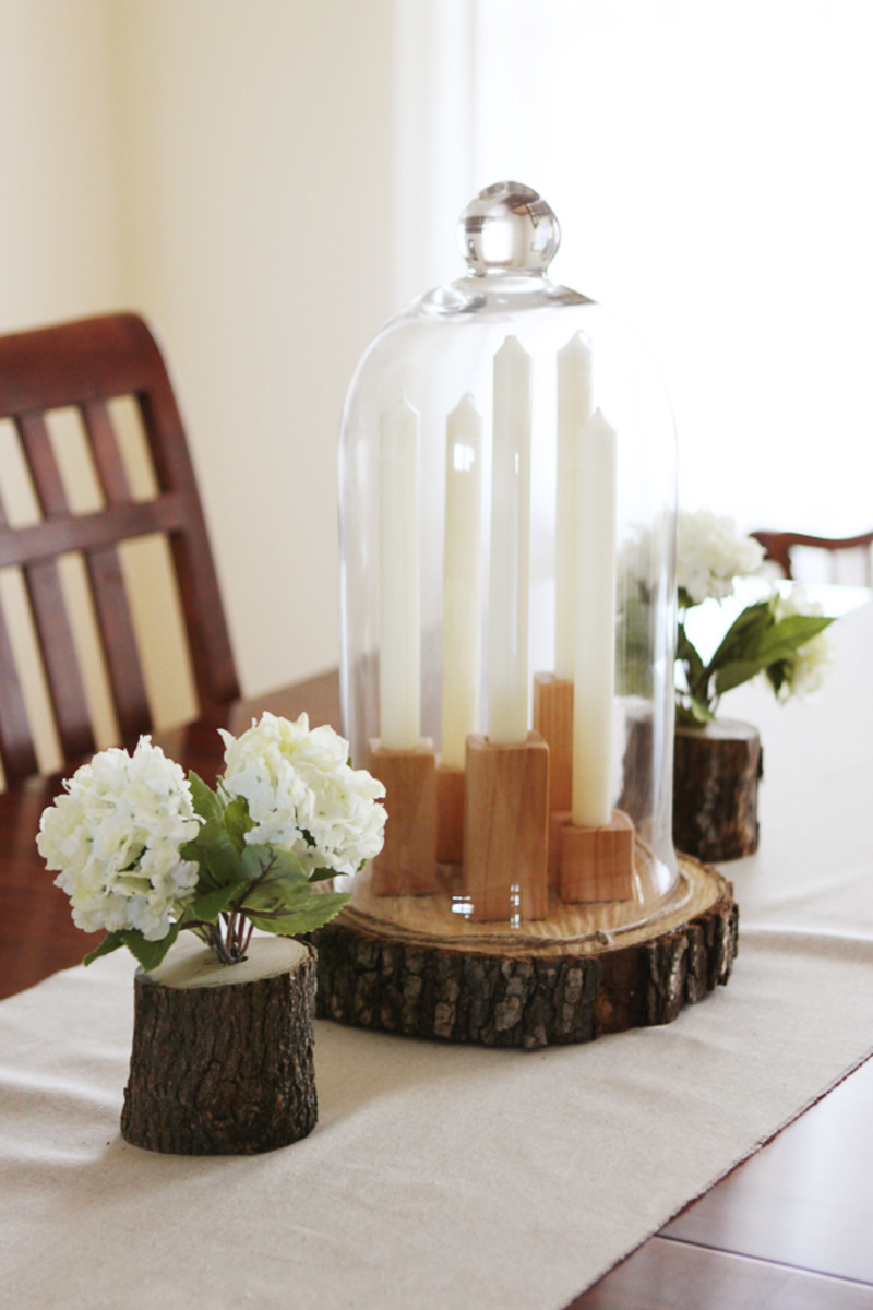 Dim candle lighting makes a romantic setting for a dinner date.