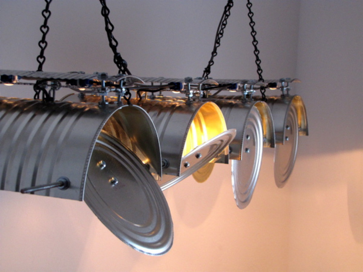 Diy lamps lights roundup of home decor craft projects - Recycled light fixtures ...