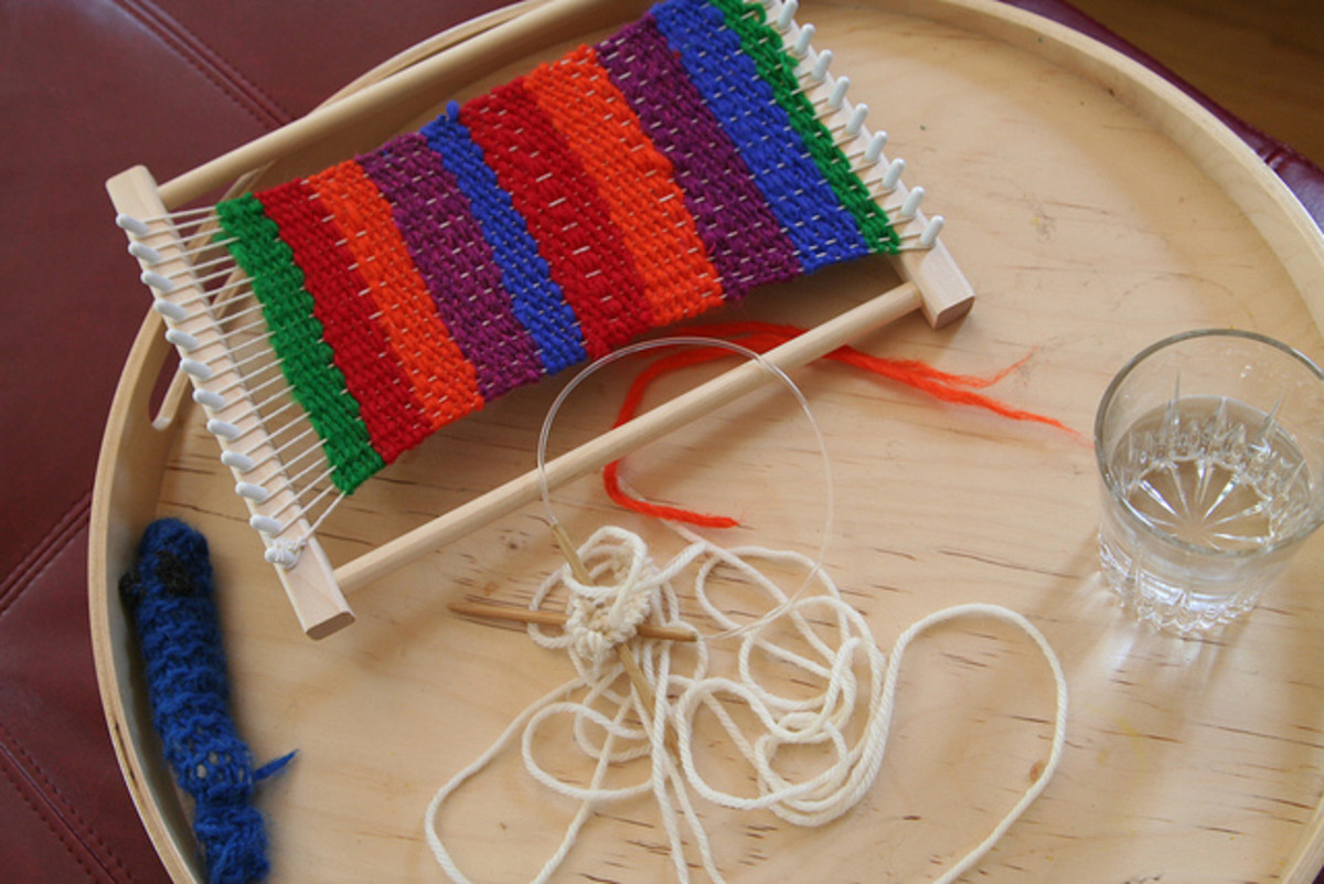 A simple loom like this one is a great starter loom, and is perfect for kids to use.