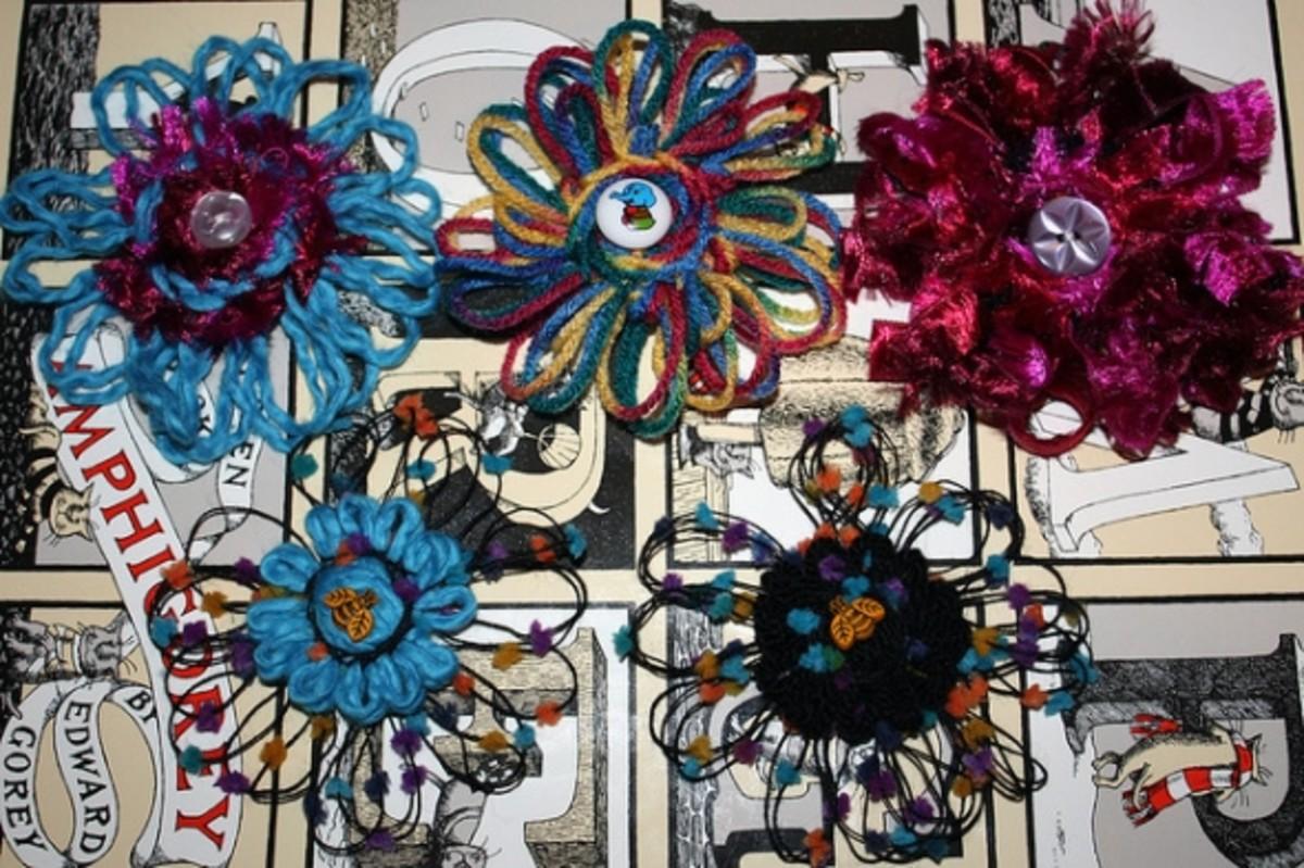 Thin Petal Yarn Flowers