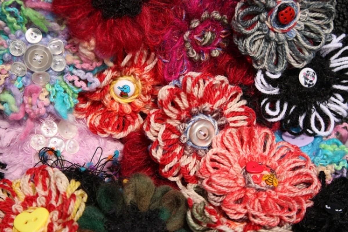 Flower Loom Yarn Flowers