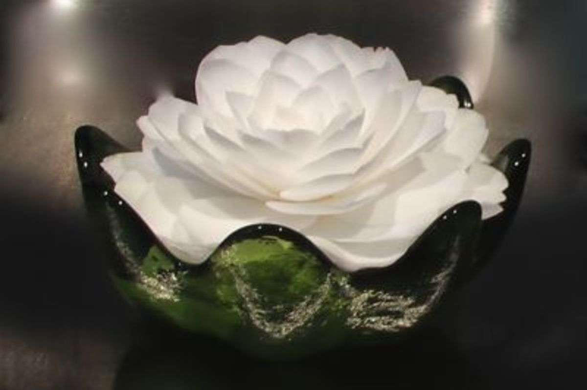 Or Float Your Camellia in a Candy Dish