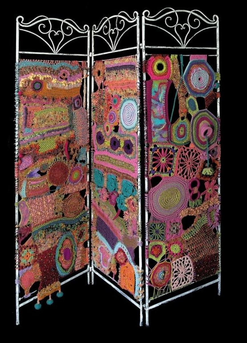 Room Dividers DIY Yarn Art Screen