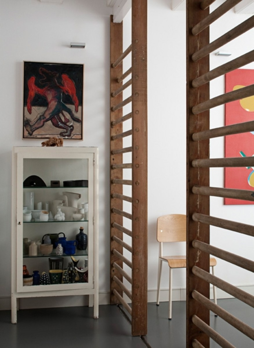DIY Dowel Wood Room Divider via Desire to Inspire