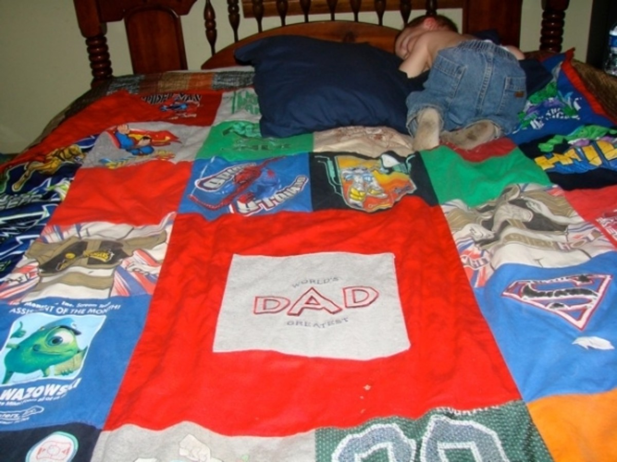 Tshirt Quilt For Dad
