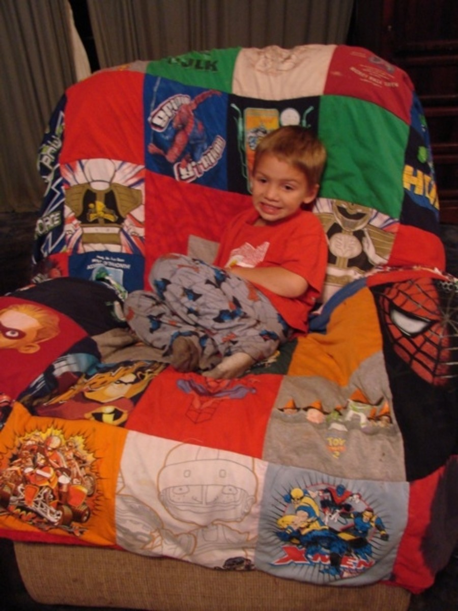 Using The Superhero T-shirt Quilt