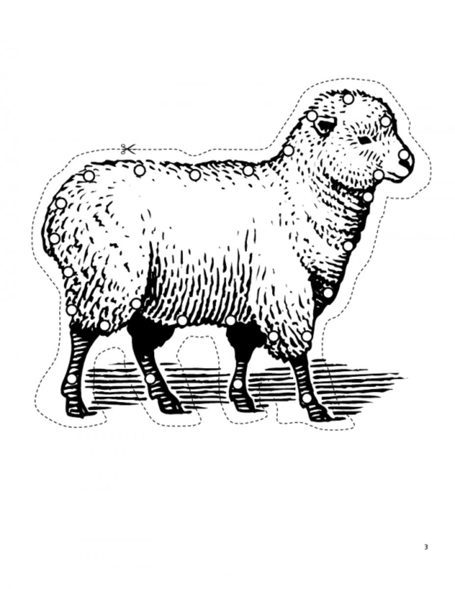 Lamb lacing card. Source:  Happy Hearts at Home