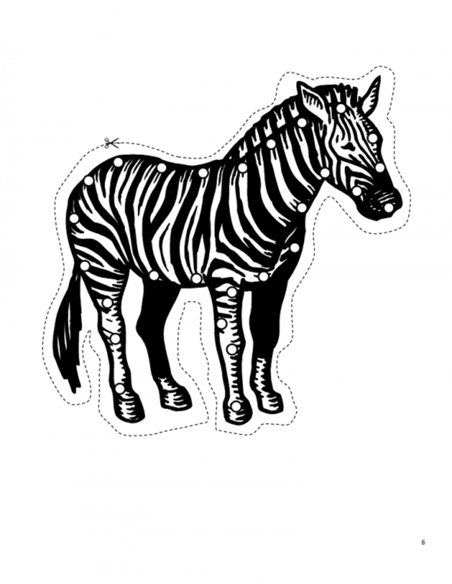 Zebra lacing card. Source:  Happy Hearts at Home