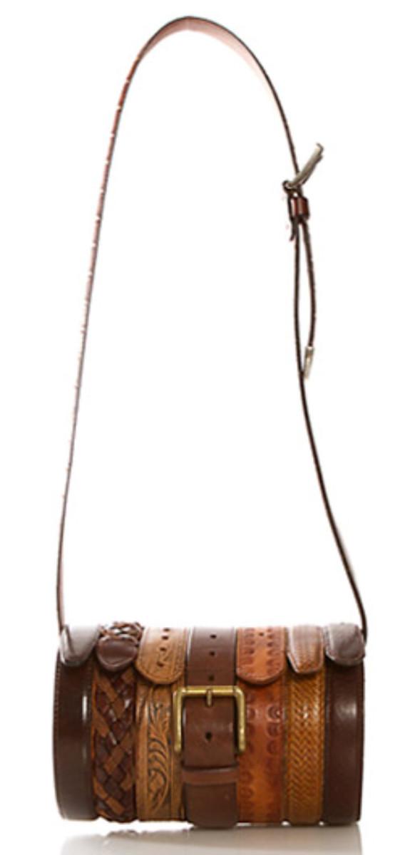 Upcycled Leather Belt Bag via Rodarte