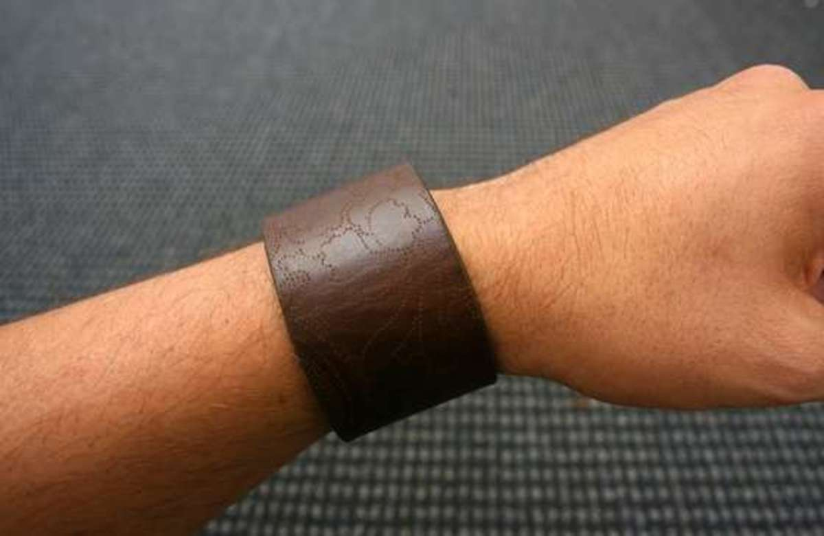 Leather Bracelet via Instructables