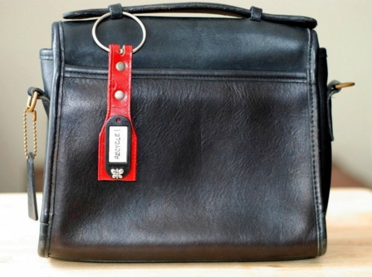 Up cycle Leather Bag Tag via Manhandslizzie