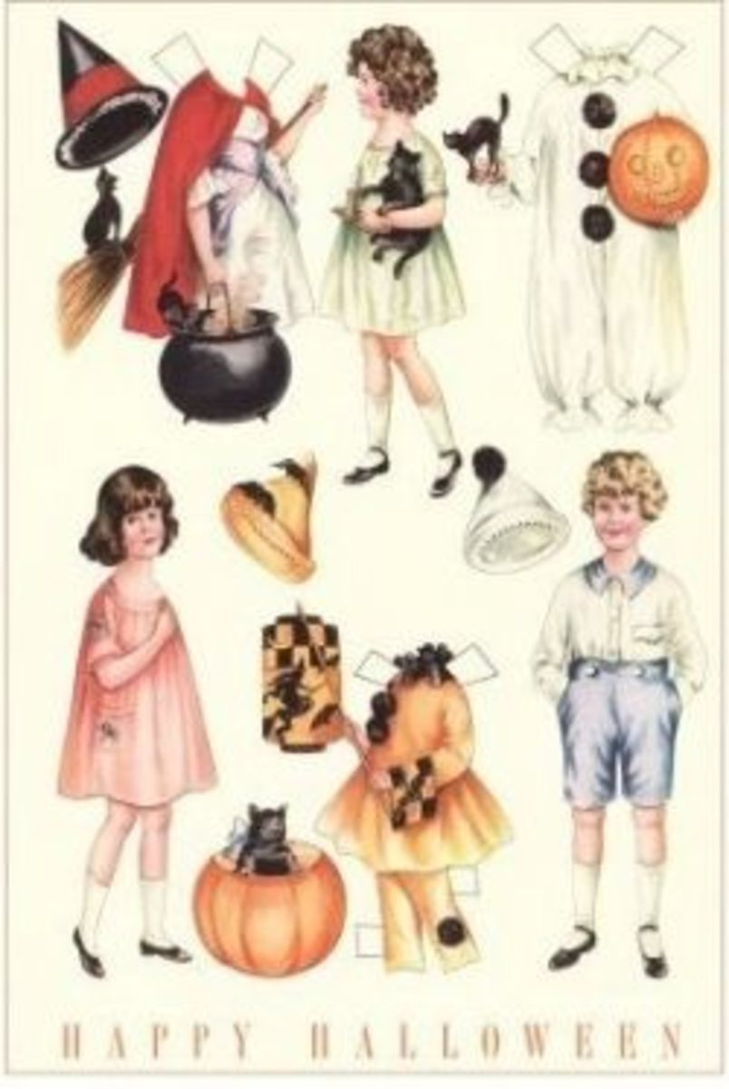 Witch Paper Dolls for Halloween