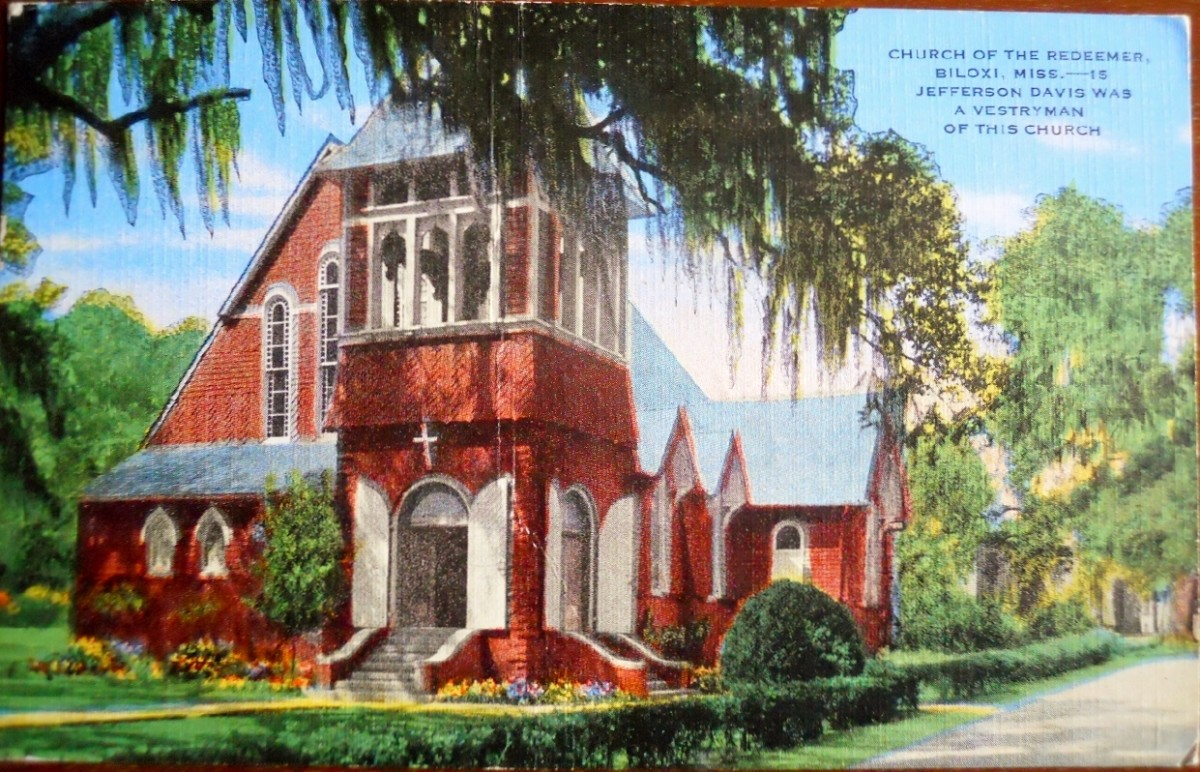 Church of the Redeemer Linen  Postcard