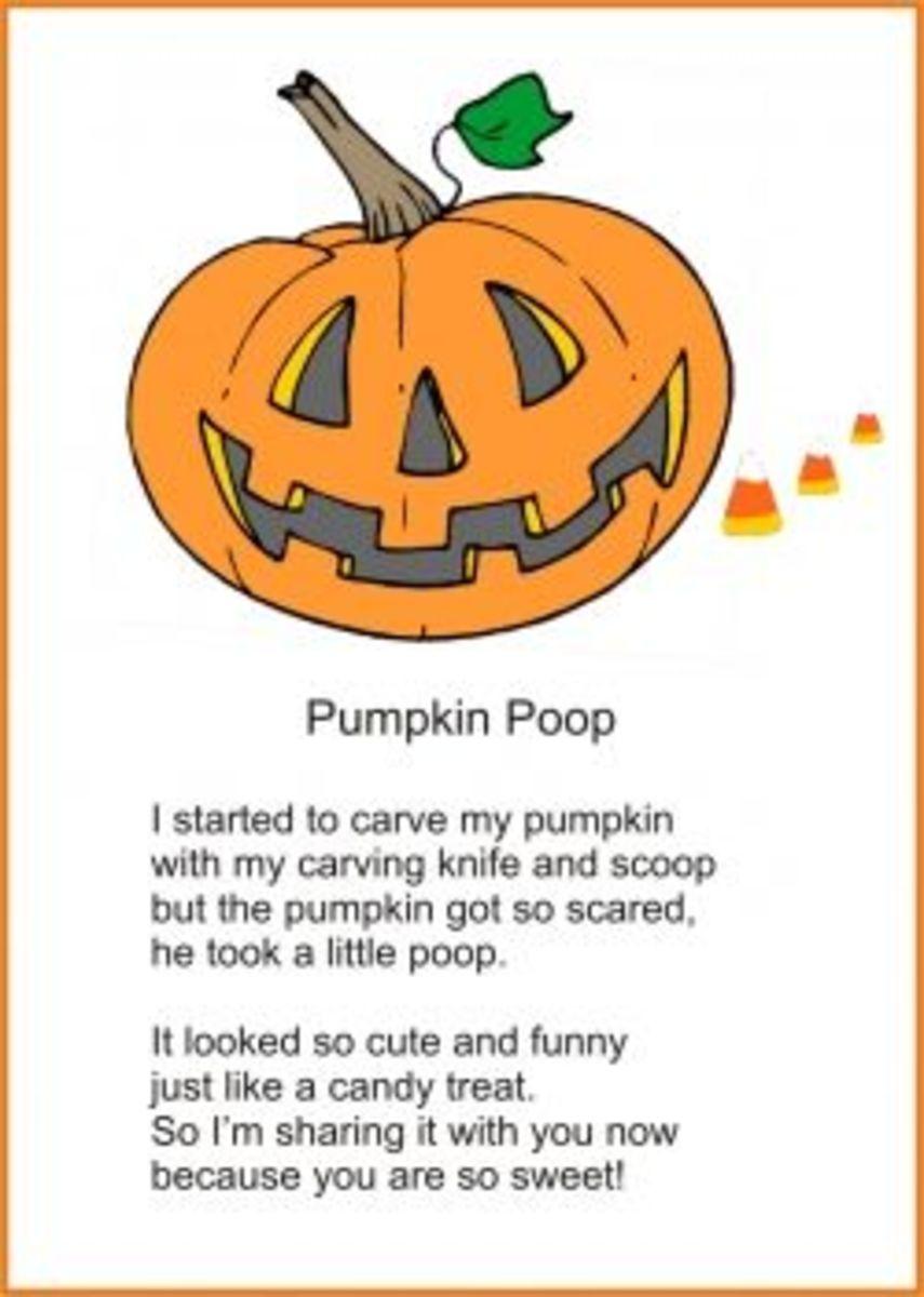 pumpkin poop poem
