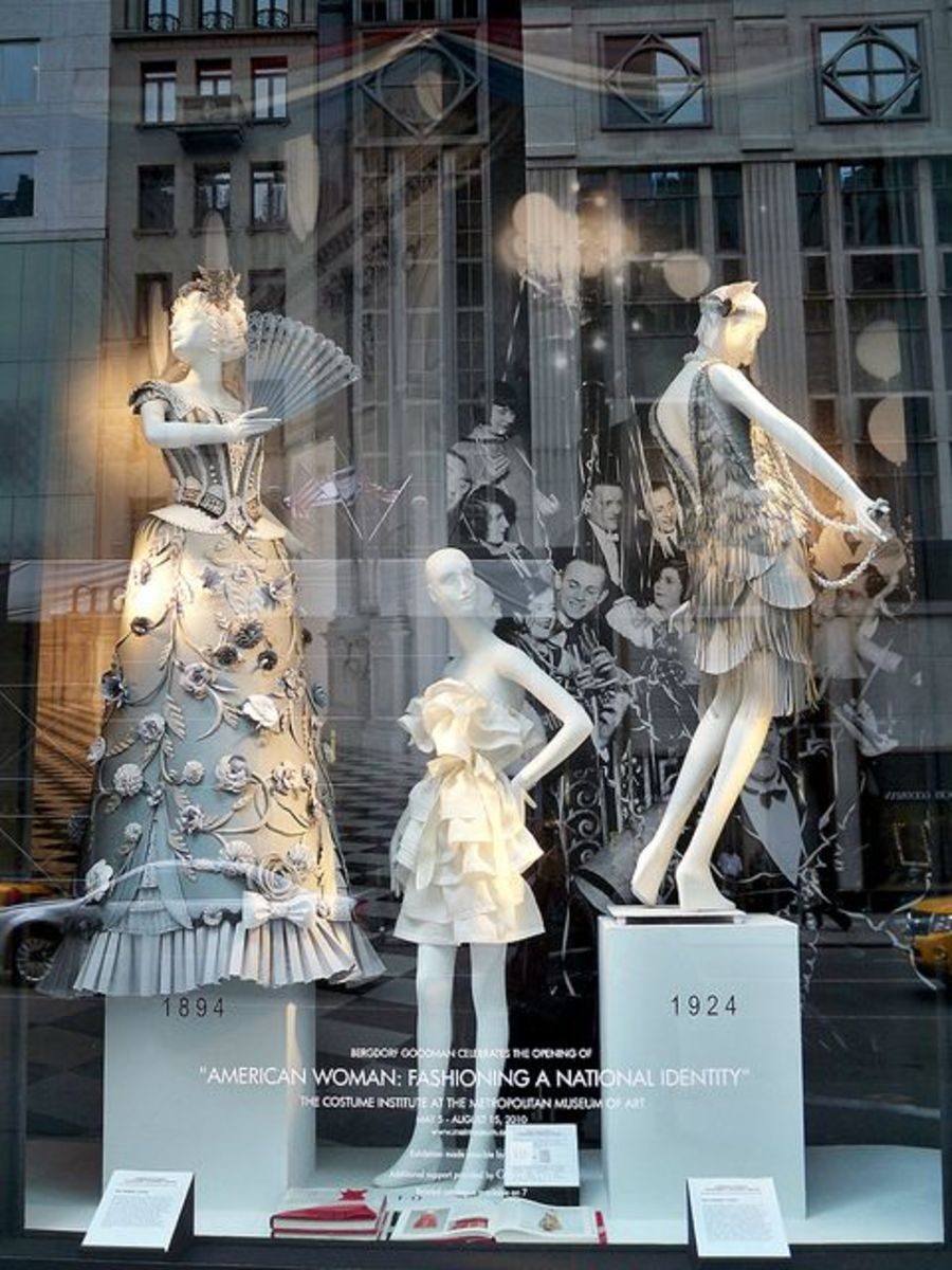 Window display at Bergdorf Goodman in New York.